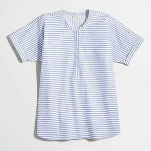 NWT J. Crew Collarless Short-Sleeve Popover Shirt